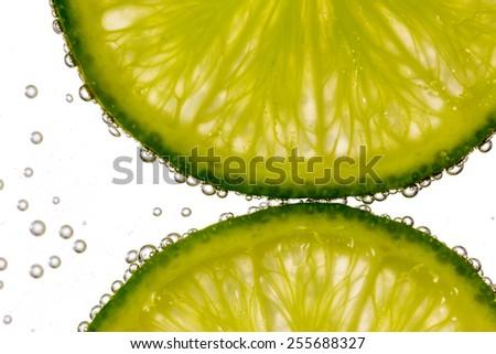Fresh lemonade and bubbles - stock photo
