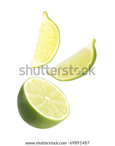 Fresh lime Isolated on a white background - stock photo