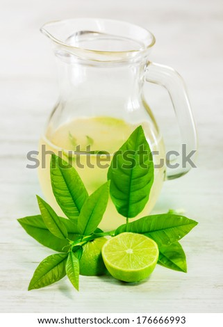 Fresh lime juice - stock photo