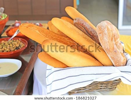 fresh loaves - stock photo