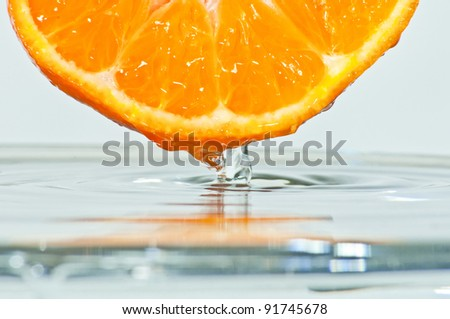 fresh mandarin - stock photo