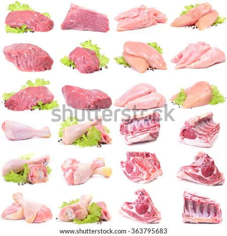 Fresh meat collection - stock photo