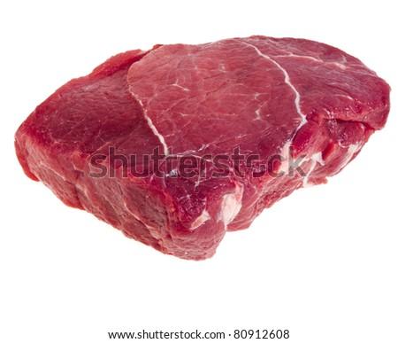 fresh meat  isolated - stock photo