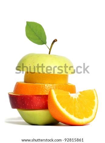 Fresh mixed fruit - stock photo