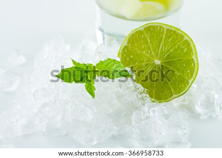Fresh Mojito cocktail drink - stock photo