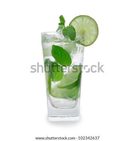 Fresh mojito drink - stock photo