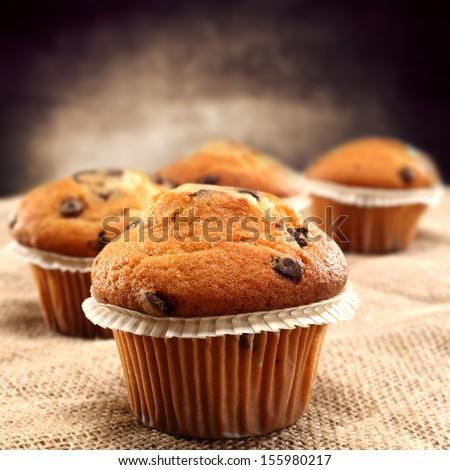 fresh muffins  - stock photo