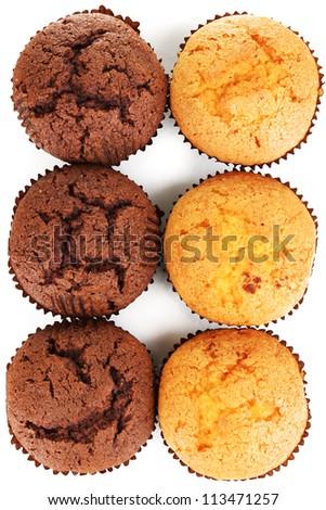 Fresh muffins close-up - stock photo