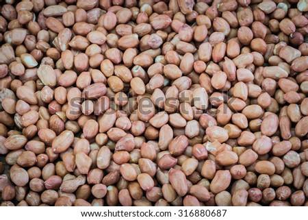fresh nuts background - stock photo