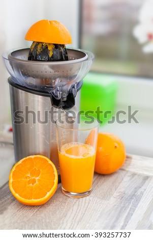 Fresh Oranges and Juice - stock photo