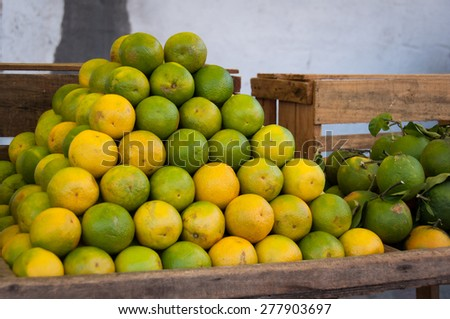 Fresh Oranges for Sale at the Market in Rio de Janeiro - stock photo