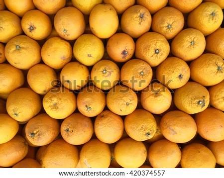 Fresh oranges texture - stock photo