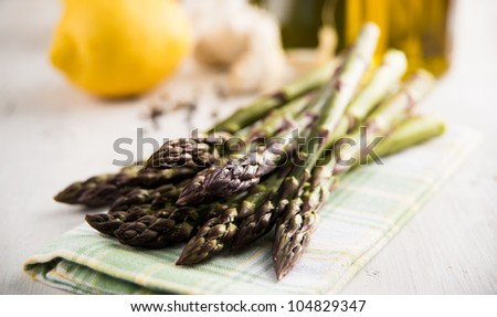Fresh Organic Asparagus - stock photo