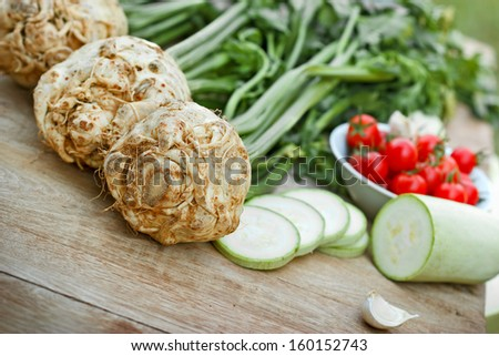 Fresh organic celery  - stock photo