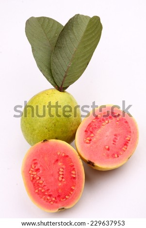 Fresh organic guava fruit. - stock photo