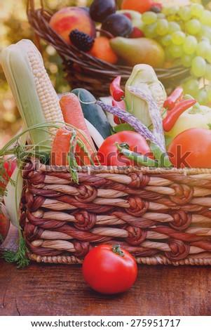 Fresh organic vegetables  - stock photo