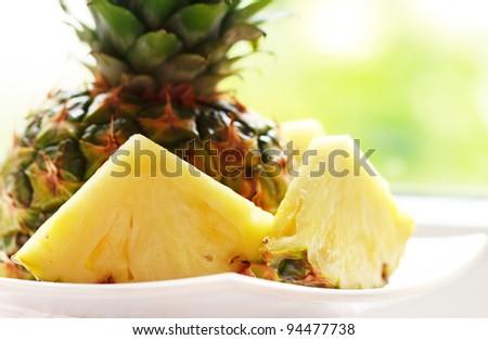 Fresh pineapple - stock photo