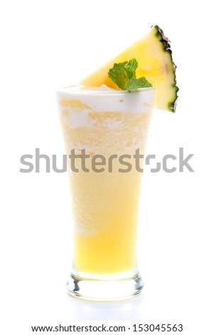 Fresh pineapple juice - stock photo