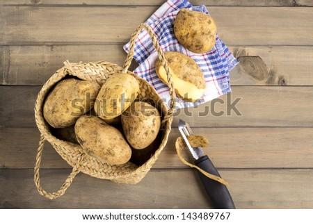 Fresh potatoes - stock photo