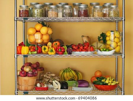 Fresh produce at home - stock photo
