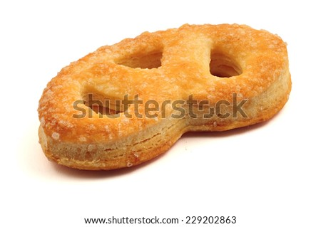 Fresh puff isolated on a white background - stock photo