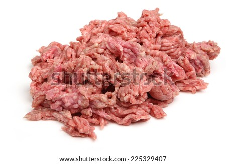 Fresh raw ground lamb meat or mince. - stock photo