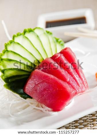 fresh raw sashimi, japanese couisine - stock photo