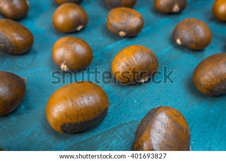 Fresh roasted chestnuts - stock photo