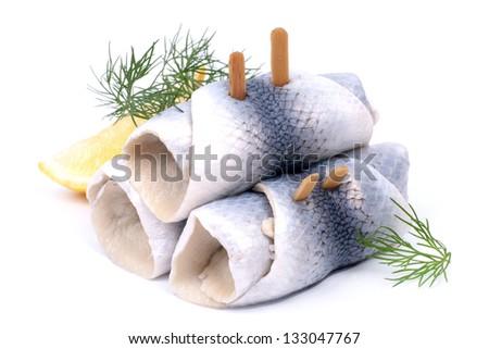 Fresh Rollmops - stock photo