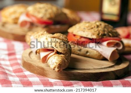 Fresh sandwich - stock photo