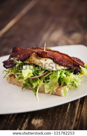 Fresh Sandwich with Chicken Fillet - stock photo