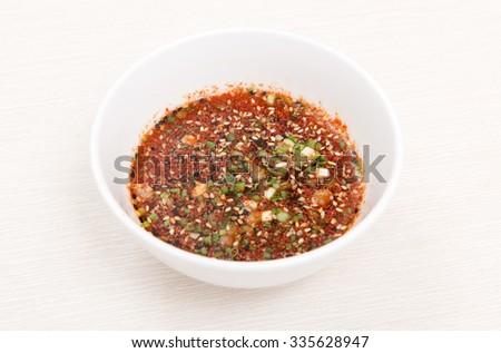fresh sauce - stock photo