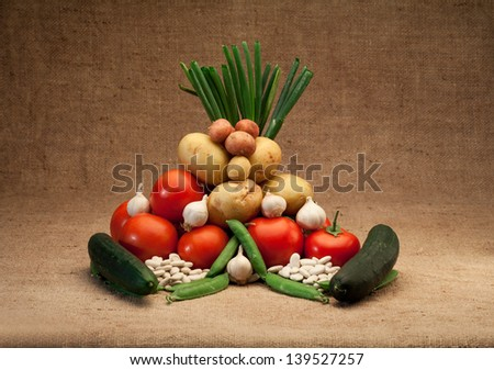 fresh seasonal vegetables - stock photo