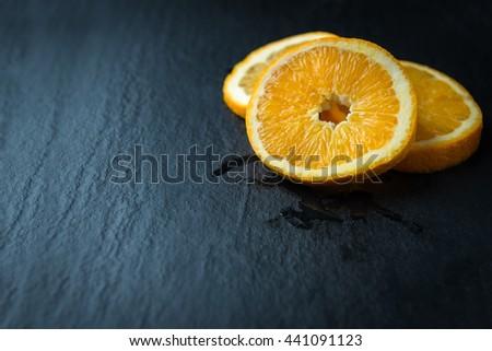 Fresh sliced oranges - stock photo
