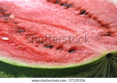 fresh sliced watermelon close up - stock photo