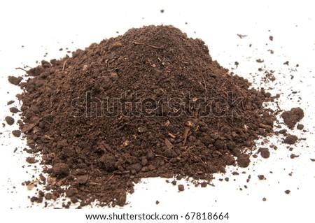 Fresh soil background closeup - stock photo