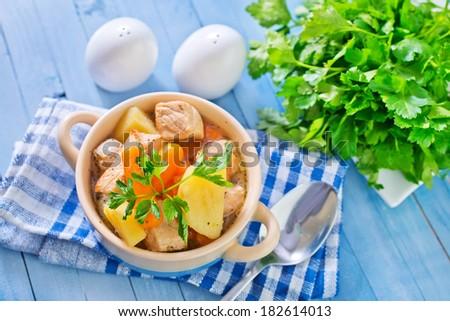 fresh soup - stock photo