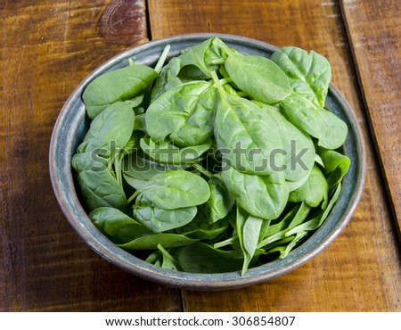 Fresh spinach leaves - stock photo