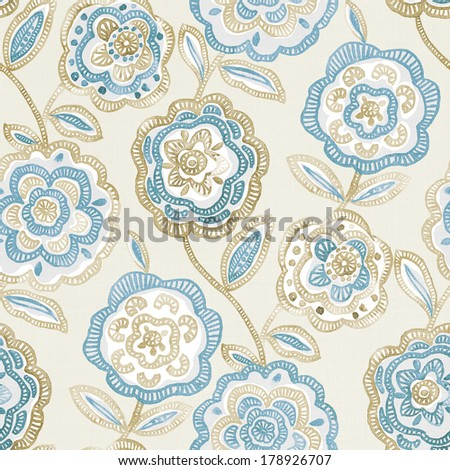 Fresh spring flowers seamless pattern background - For easy making seamless pattern use it for filling any contours  - stock photo