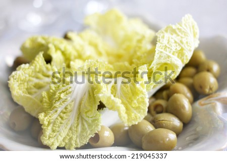 fresh sprout cauliflower broccoli as useful meal - stock photo