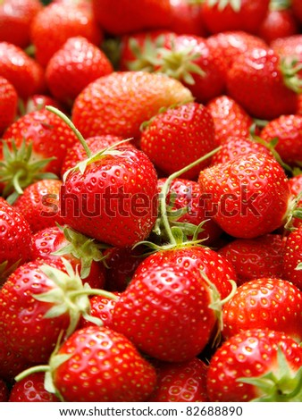 fresh strawberry - stock photo