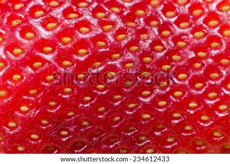 Fresh strawberry close up  - stock photo
