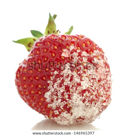 fresh strawberry on white background  - stock photo