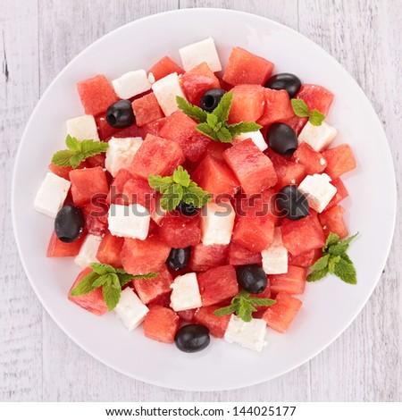 fresh summer salad - stock photo