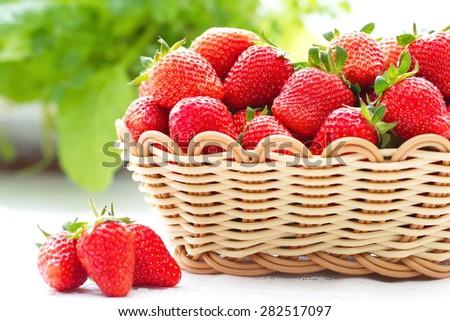 Fresh summer strawberries - stock photo