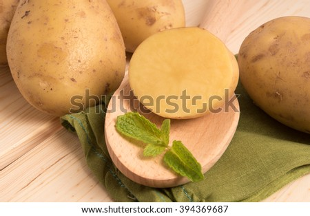 fresh tasty potatoes - stock photo