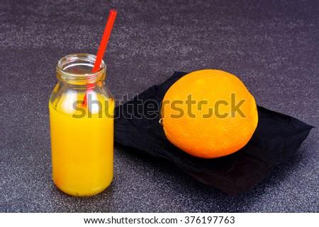 Fresh Tasty Vitamin Orange  Juice Studio Photo - stock photo