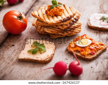 Fresh toast for delicious breakfast   - stock photo