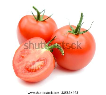 fresh tomatoes on white background  - stock photo