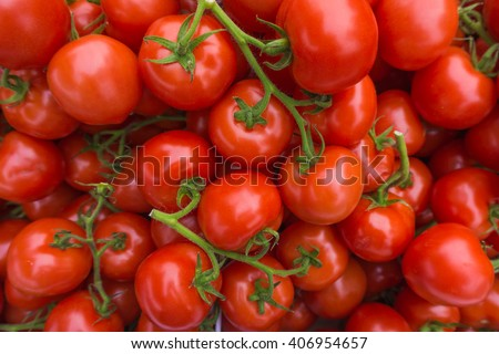 fresh tomatoes. red tomatoes background. Group of tomatoes - stock photo